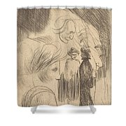 Sketch Plate Shower Curtain