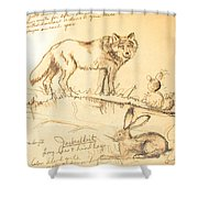 Sketches For Sale Shower Curtain