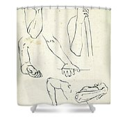 Sketches Of Arms Shower Curtain