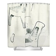 Sketches Of Plastic Chairs 2 Shower Curtain
