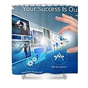 Skginfosolutions-web Design And Development Shower Curtain