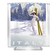 Ski Italy Shower Curtain