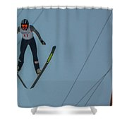 Ski Jumper 2 Shower Curtain