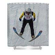 Ski Jumper 3 Shower Curtain