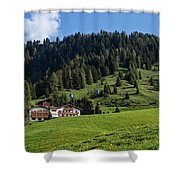Ski Lodge In The Dolomites Shower Curtain
