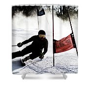 Ski Racer 2 Shower Curtain