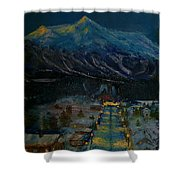 Ski Resort Shower Curtain