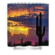 Skies Aglow In Arizona  Shower Curtain