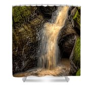 Skillet Creek Into The Deep Pool Shower Curtain