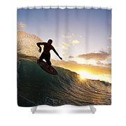 Skimboarding At Sunset I Shower Curtain