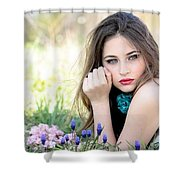 Skin Care Shower Curtain