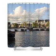 Skinny Bridge In Amsterdam Shower Curtain