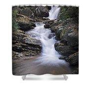 Skinny Dip Falls - Blue Ridge Mountains Shower Curtain