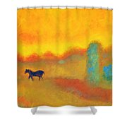 Skittish Shower Curtain
