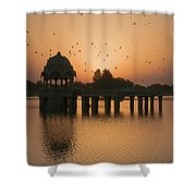 Skn 1372 Sunrise Flight Shower Curtain
