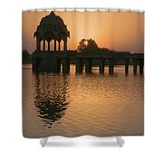 Skn 1374 Yellow Glow Shower Curtain