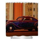 Skoda Popular Sport Monte Carlo 1935 Painting Shower Curtain