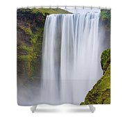 Skogafoss - Iceland Shower Curtain