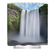 Skogafoss Iceland  Shower Curtain