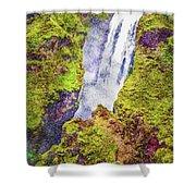 Skogafoss Waterfall #10 Shower Curtain