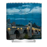 Skopje Stone Bridge Shower Curtain