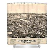 Skowhegan Maine 1892 Shower Curtain