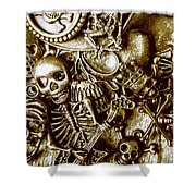 Skull And Cross Bone Treasure Shower Curtain