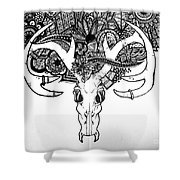 Skull Art Shower Curtain