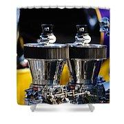 Skull - Engine Ornaments Shower Curtain