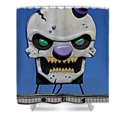 Skull Fun House Sign Shower Curtain