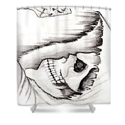 Skull Gambler Shower Curtain