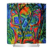 Skull Island Shower Curtain
