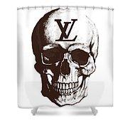 Skull Lv Braun Shower Curtain