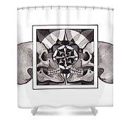 Skull Mandala Series Nr 1 Shower Curtain by Deadcharming Art