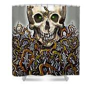 Skull N Thorns Shower Curtain