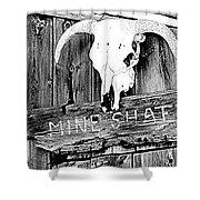 Skull On Wood Shower Curtain
