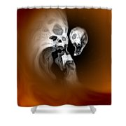 Skull Scope 2 Shower Curtain
