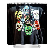 Skull T Shirts Day Of The Dead  Shower Curtain