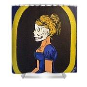 Skull Woman Shower Curtain