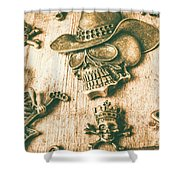 Skulls And Pieces Shower Curtain