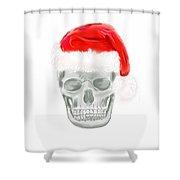 Skully Santa Shower Curtain