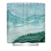 Sky Above And Sky Below Shower Curtain