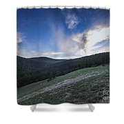 Sky And Mountains Shower Curtain