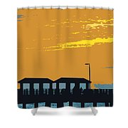 Sky And Pier Shower Curtain