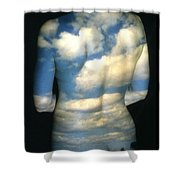 Sky Shower Curtain by Arla Patch