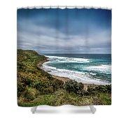 Sky Blue Coast Shower Curtain