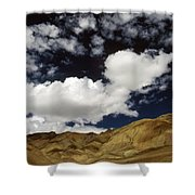 Sky Blue Sky Shower Curtain