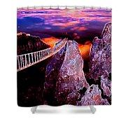 Sky Bridge Shower Curtain