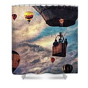 Sky Caravan Hot Air Balloons Shower Curtain
