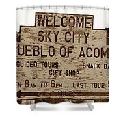 Sky City Sign Shower Curtain
